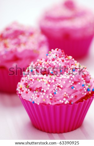 Pink cupcake birthday surprise
