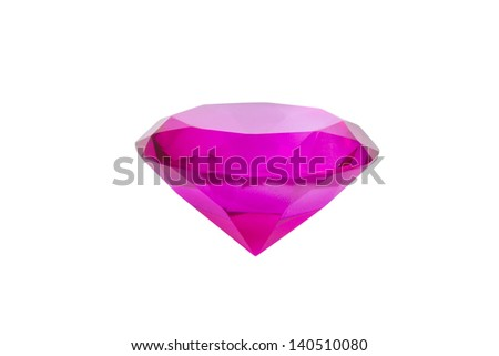 Pink diamond isolated on white