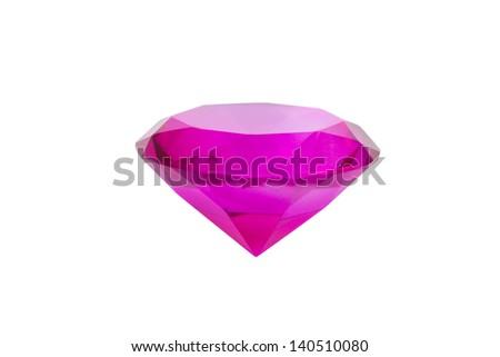 Pink diamond isolated on white