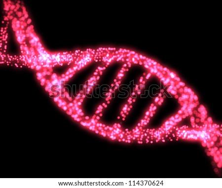 Pink DNA Helix Background