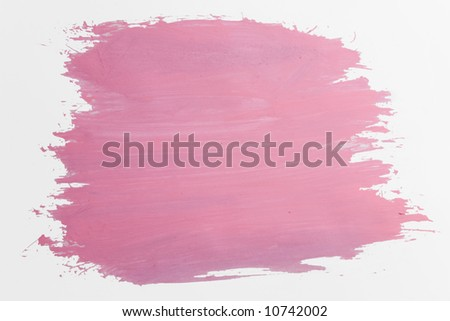 pink draw texture painting on white canvas