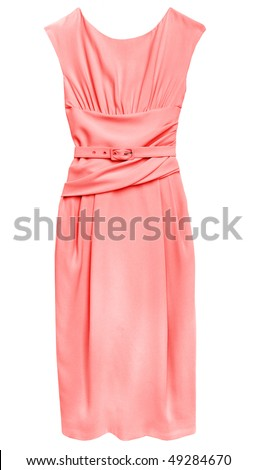 Pink dress isolated on white