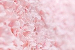 Pink fake flowers, background, texture