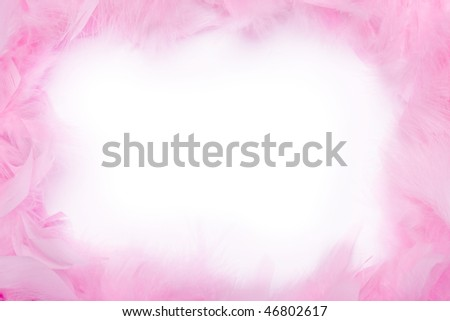 Pink feather boa frame