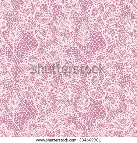 pink floral lace seamless...