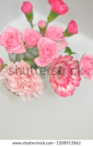 pink flower bouquet #1208913862