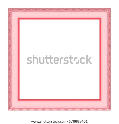 Pink frame Isolated on white background, Clipping path