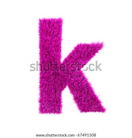 K Letter Images In Pink Pink fur lower-case letter - k