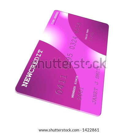 generic credit card icon. Pink Generic Credit Card
