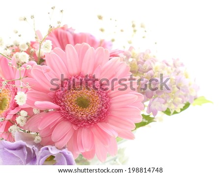Pink Gerbera wedding bouquet for background image