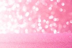 Pink glitter lights texture bokeh background Christmas