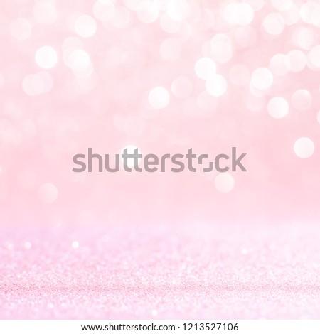 Pink glitter vintage lights background. defocused #1213527106