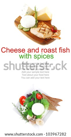 pink grilled salmon on wooded plate over white