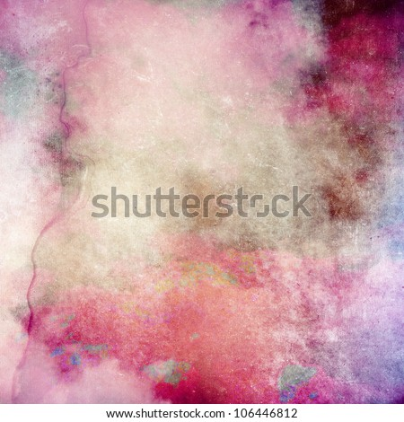 Pink grunge paper texture, art background