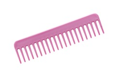 Pink hair comb isolated on a white background