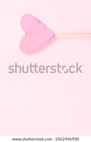 Pink heart on pink background #1062446900
