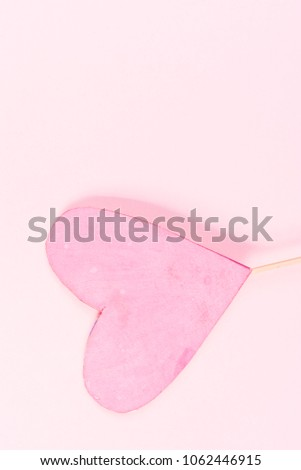 Pink heart on pink background #1062446915