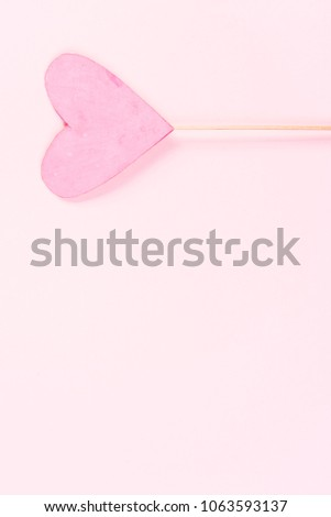 Pink heart on pink background #1063593137