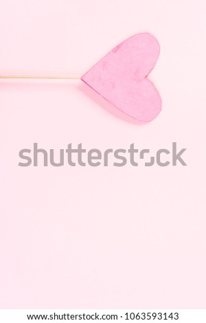 Pink heart on pink background #1063593143