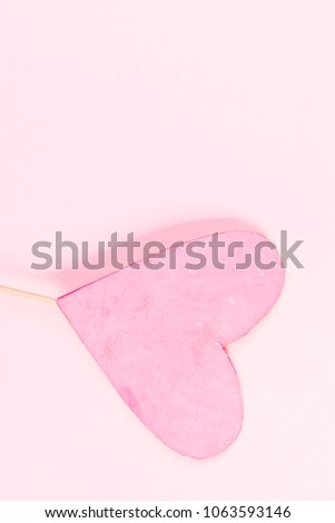 Pink heart on pink background #1063593146