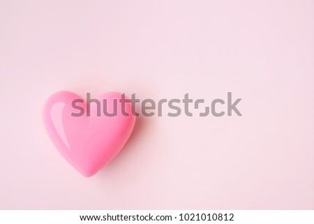 Pink heart on pink background for Valentine's Day #1021010812