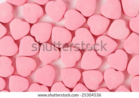 Pink Heart Shape Candy close up