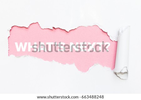 Pink hole in white paper. What's next?