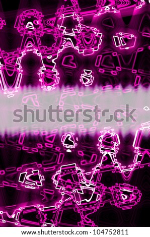 pink in dark abstract line background.