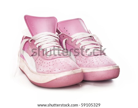 Pink ladies women's sport fashion sneaker trainer shoe