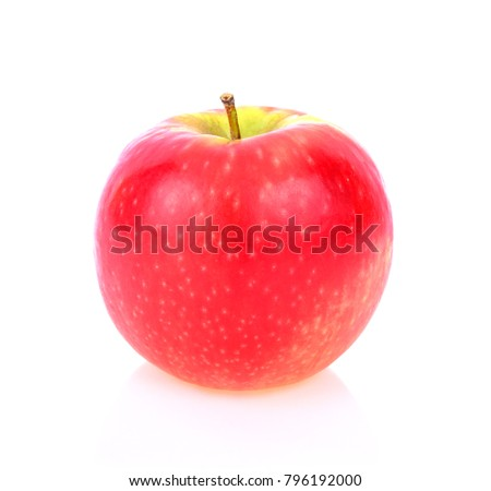 pink lady apple isolated on white background