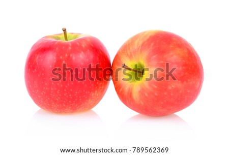 pink lady apples isolated on white background #789562369