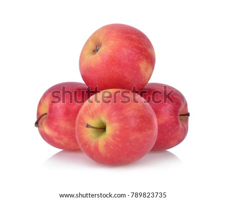 pink lady apples isolated on white background