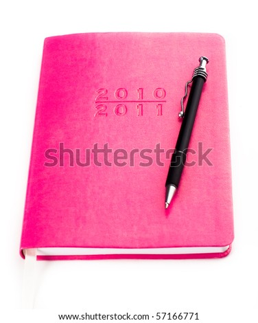 Pink Leather Planner for 2010  and 2011