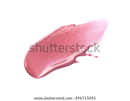 Pink lip gloss isolated on white  #496715095