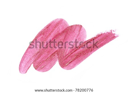 pink lip stick sample