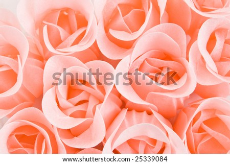 pink luxury soap roses background