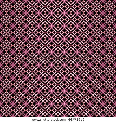 Pink Maltese Crosses Form Seamless Pattern Background On Black