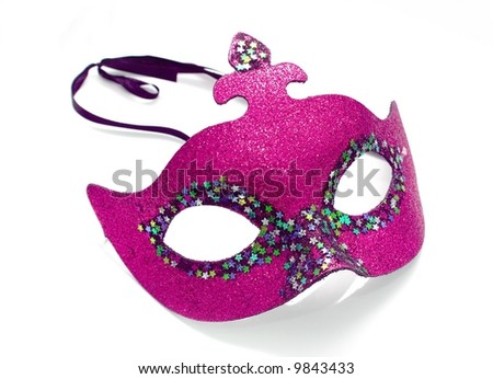 pink mask on white background