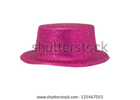 Pink Metallic Hat on white background