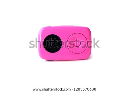 pink music mp3 player