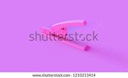 Pink Office Stapler 3d illustration 3d render