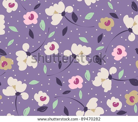 pink on violet flowers seamless pattern in jpg