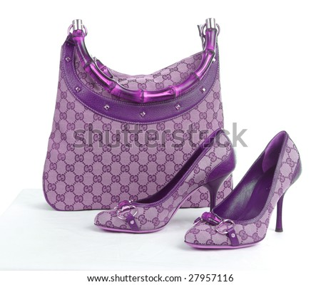 pink ornament bag and shoes