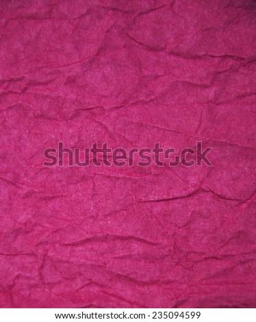 pink paper texture - crumpled pink paper