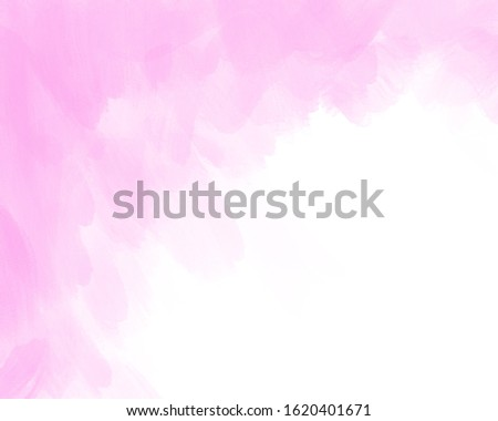 pink pastel water color brush in the top left of background for title ,title design