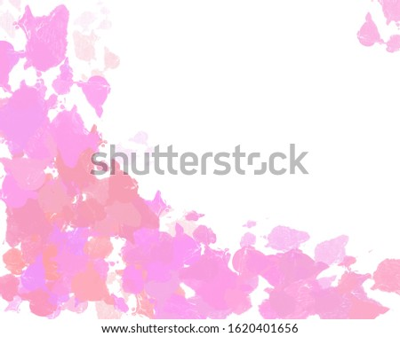 pink pastel water color drop in the left of background for title ,title design