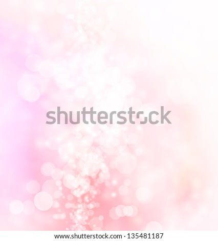 Pink, peach colored abstract octagon shaped bokeh Lights Background