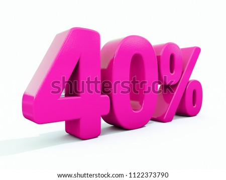Pink 40% Percent Discount Sign, Sale Up to 40%, 40% Sale, Special Offer, Money Smarts Sticker,  Save On 40% Icon, % Off Tag, Budget-Friendly, Cost-Cutting Tricks, Low-Cost, Low-Priced, Reduce Cost