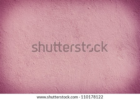 Pink plaster wall background patter. Dark edged