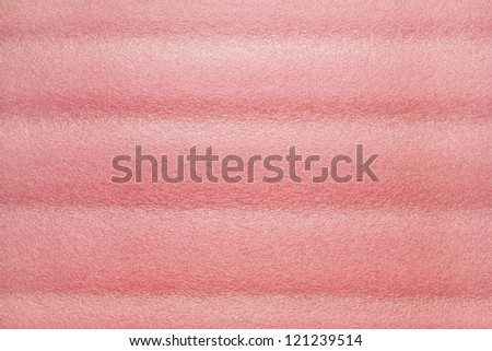 Pink plastic foam for texture background - stock photo